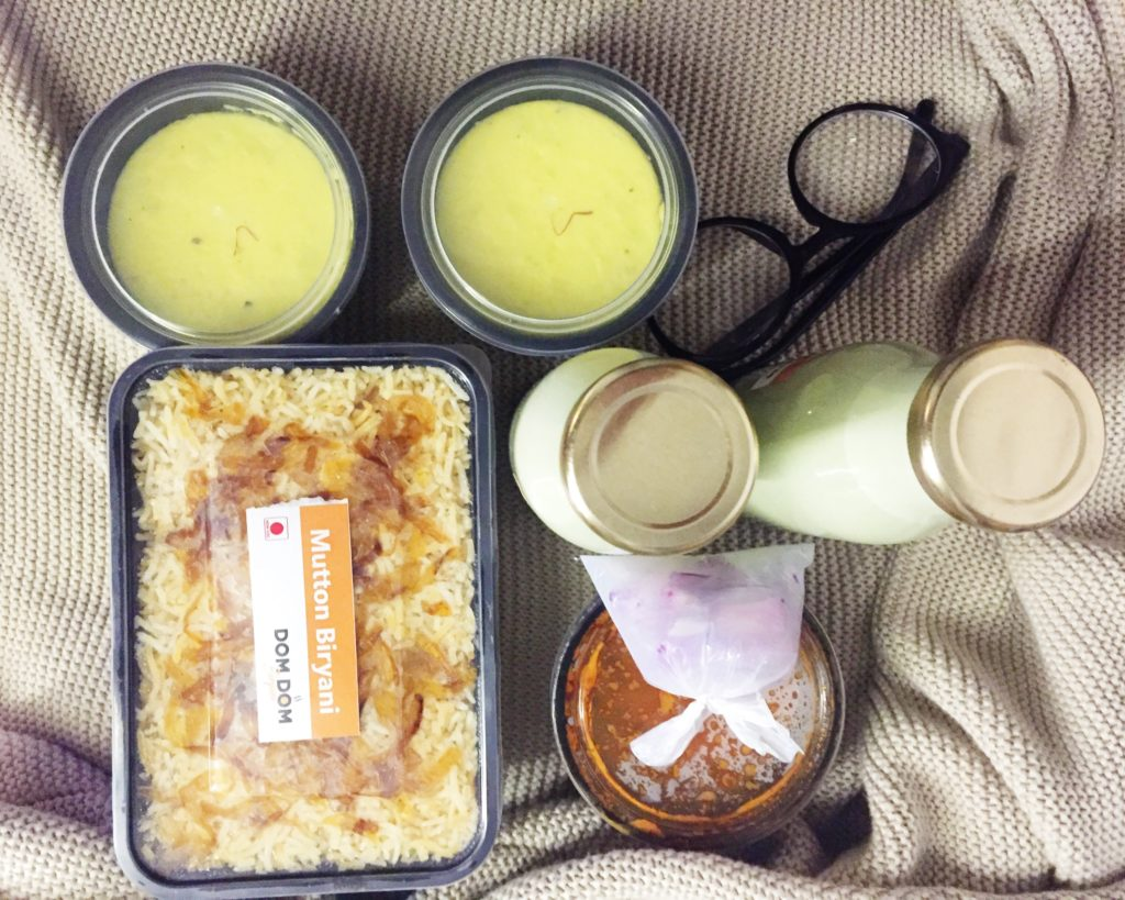 TAKEOUT REVIEW – DOMDOM BIRYANI, SOUTH EXTN 2