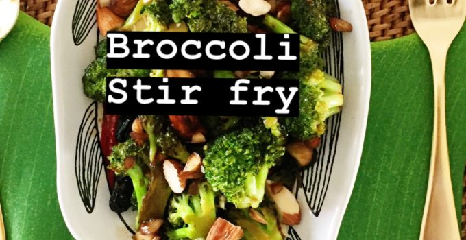 SUPER SIMPLE BROCCOLI STIR FRY